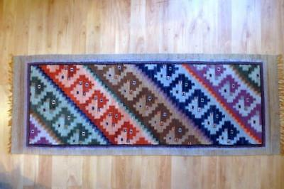 """Middle Eastern Persian Wool Hand Knotted Carpet Runner Rug 26"""" x 68.5"""""""