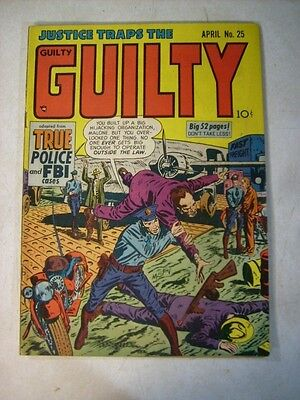 JUSTICE TRAPS THE GUILTY #25 crime, 1951, POLICE FBI CASES, HIJACKERS, TERROR