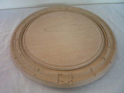 Clean Useable Carved Wooden Bread Board Vintage English Kitchenalia