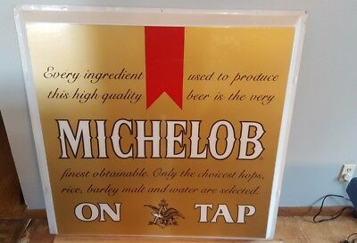 (Vtg) Michelob Beer Outdoor Plastic Bubble Light Up Bar Sign Bud Anheuser Busch