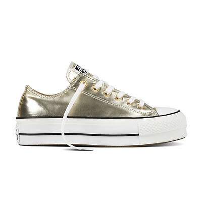 Converse Chucks Taylor All Star Lift Ox Low Damen Schuhe Sneaker 560249C(Gold)