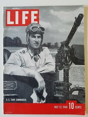 LIFE Magazine July 22 1940 War in Europe French Surrender Army Tank Driver