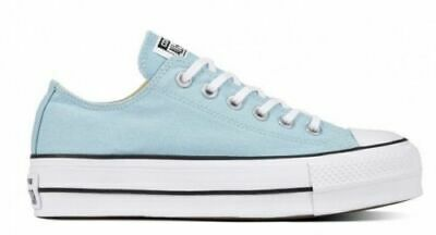 Converse Chucks Taylor All Star Lift Ox Low Damen Schuhe Sneaker 560687C (Blau)