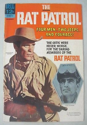 The Rat Patrol #5 Dell Comics 1967 Tv Photo Cover Christopher George Wwii Desert