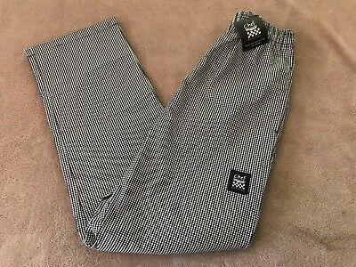 Nwt Chef Revival Poly Cotton Hounds Tooth Baggy Pants Medium P020Ht-M Free Ship