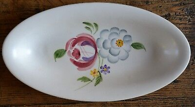 Vintage Radford Pottery Hand Painted Floral Oval Dish