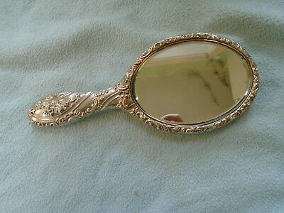 Birmingham 1903 Sterling Silver Rococo Style Repoussé Hand Mirror