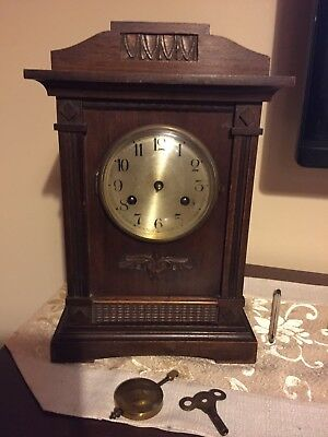 Vintage Antique Wooden Mantle Clock Spares Repairs