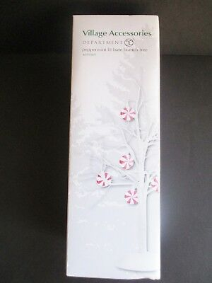 Dept 56 Peppermint Lit Bare Branch Tree 4025369  Village Accessory New In Box
