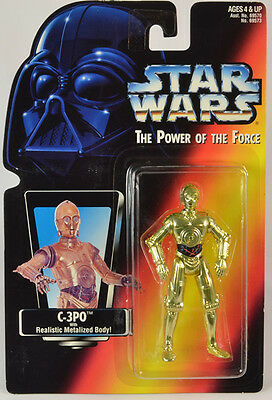 Star Wars  C-3P0  POTF2 Red Card Japan Green Tint variant with Protech
