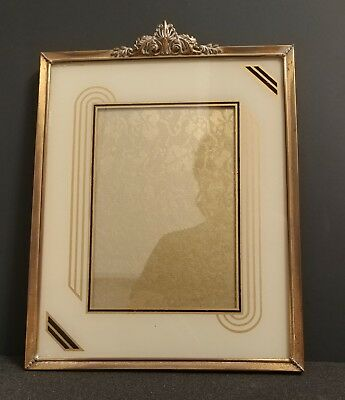 VNTG Classic Art Deco Brass Guild Rocco Hollywood Regency Large Picture Frame
