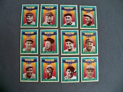 1992 Hall of Fame Legends Baseball Card Set of 12 Babe Ruth Ty Cobb Lou Gehrig