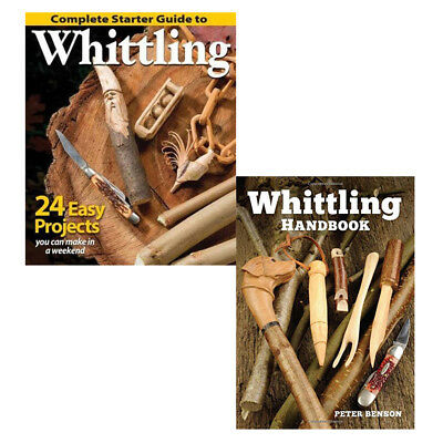 Peter Benson Complete Starter Guide to Whittling Handbook 2 books collection set