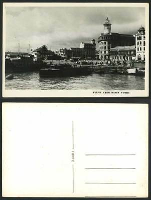 Singapore Old Postcard Telok Ayer Basin Customs Quay, Harbour Boats Street Scene