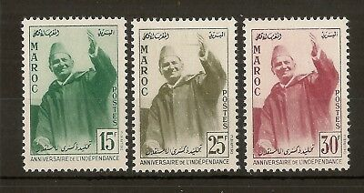 Morocco 1957 Independence SG42-44 Mint