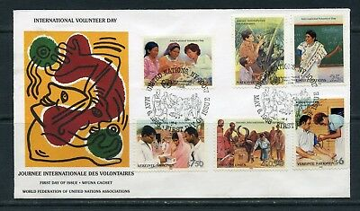 United Nations Wfuna Keith Haring Cacheted Combination First Day Cover Rare