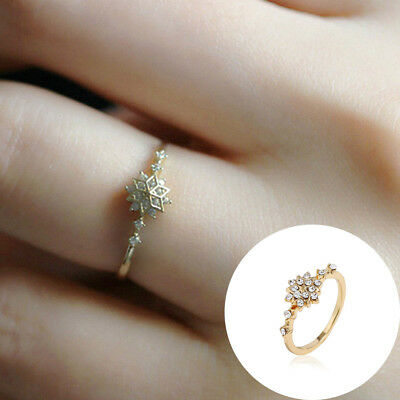 1pcs Women's Flower Crystal Rings Chic Dainty Rings Party Rings Wedding Jewelry