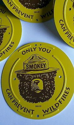 """SMOKEY BEAR Boundary  Marker."""" ONLY YOU CAN PREVENT WILDFIRES """""""