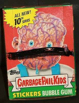 1987 Garbage Pail Kids 10Th Series Box 48 Sealed Pks Wax Pk Box Gpk Stickers