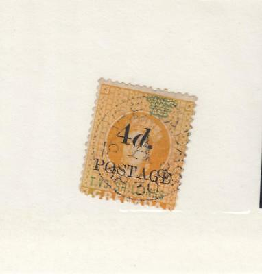 GRENADA # 32 4d POSTAGE SURCHARGE MINT UNUSED WITH LH