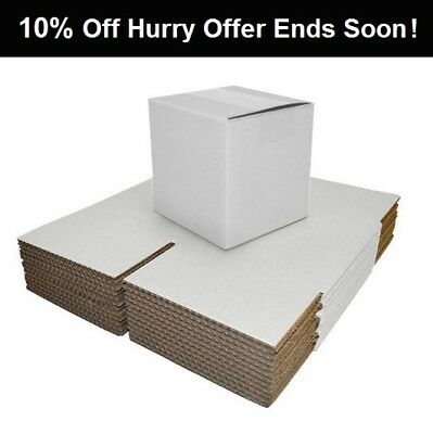 Single Wall White Postal Packing Cardboard Boxes Mailing Packaging Cartons-WB
