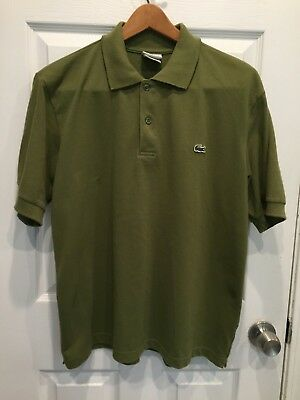 2ebe86bc LACOSTE MENS OLIVE Green Short Sleeve Pique Polo Shirt XL sz 6 ...