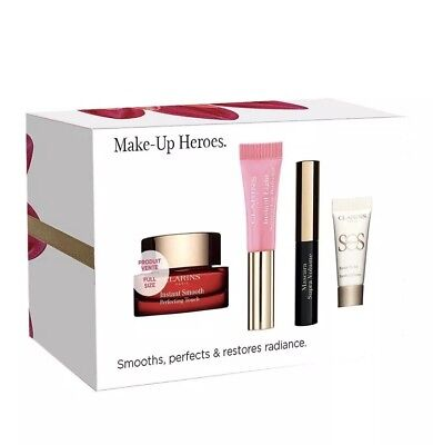 Clarins One Minute Makeup Heroes Gift Set Smooths, perfects & restores radiance