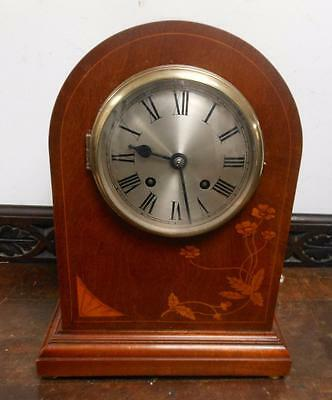 coventry astral mahogany inlaid ting tang bracket clock for restore