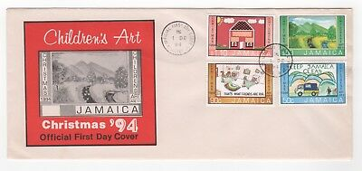 1994 JAMAICA First Day Cover CHILDREN'S ART CHRISTMAS '94 Issues Kingston