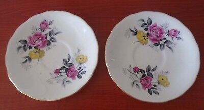 Beautiful 2 x Royal Vale saucers