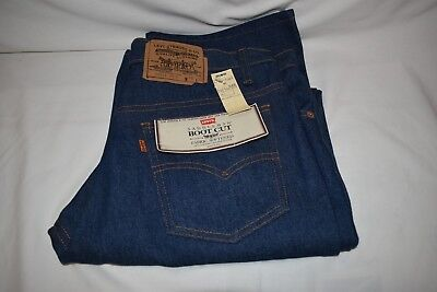 Men's Vintage Deadstock Saddleman Boot Cut Levi's Size 34x32 Made In USA