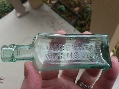 1860' Applied Top Roger's Vegetable Worm Syrup Cincinnati About Perfect