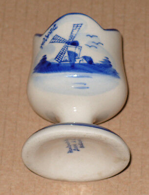 Vintage 1950s Delft Holland Egg Cup Hand Painted