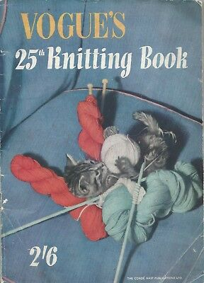 1943 VOGUE'S 25th KNITTING book Vogue 40s vintage fashion knitwear patterns