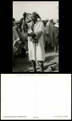 Morocco Native Snake Charmer, Encantador Serpientes Costumes Ethnic Old Postcard