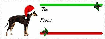 Manchester Terrier Christmas gift tags WATERPROOF 180 pieces