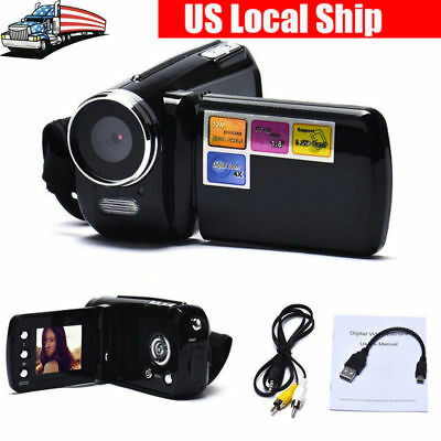 Black Mini DV Camcorder 1.8 Inch LCD 4x Zoom Video Camera Best Kids Gift