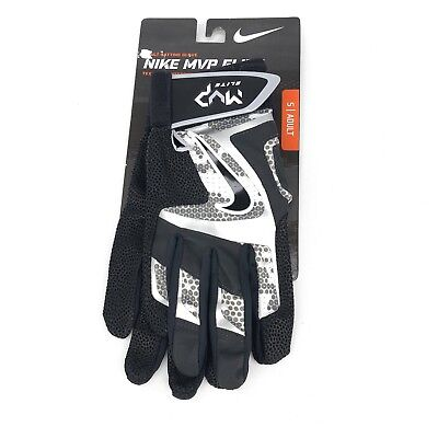 Nike MVP Elite Batting Gloves Adult Small Baseball Softball Black Silver GB0401
