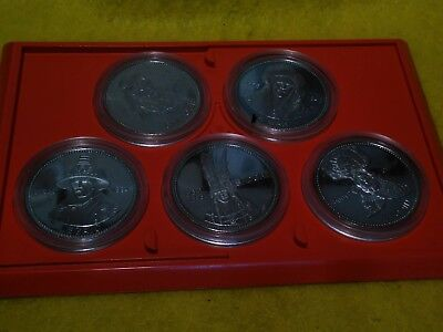 1978 Canada Indian Heritage Series (2) 5 coin set, Vancouver  Box and Pamphlet