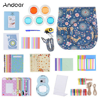 Andoer 14 in 1 Accessories Kit for Fujifilm Instax Camera Case/Lens etc J0A6