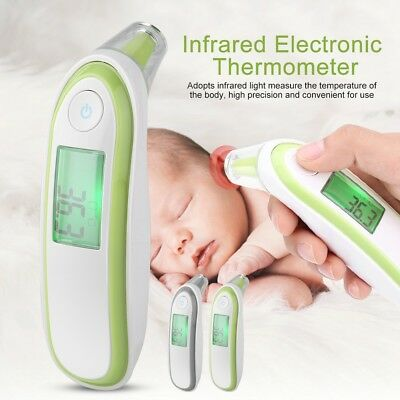 Forehead Ear Medical Baby IR Thermometer Adult LCD Digital Infrared Temperature