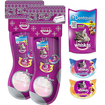 2 x Whiskas Christmas Cat Stocking A Perfect Gift For Your Cat At Christmas