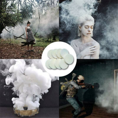 2Pcs White Smoke Cake Bomb Round Effect Show Magic Photography Stage Aid Toy