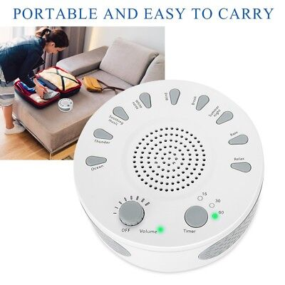 White Noise Deep Sleep 9 Sound Relaxing Aid Machine Helper Nature Music Therapy