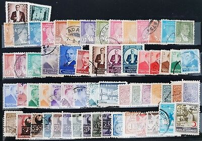 Turkey Vintage Classic Used Stamps Collection Lot All Different # 1