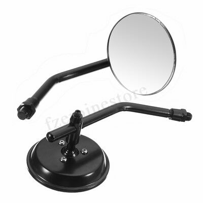 2PCS Classic Retro Motorcycle Round RearView Mirror For Harley Cafe Racer Bobber