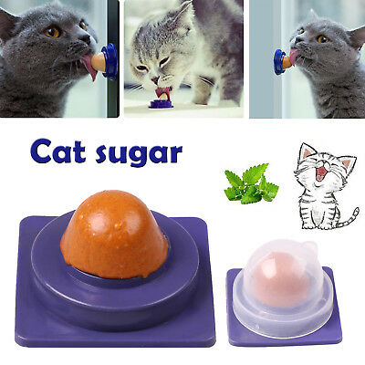 Healthy Pet Cat Snack Catnip Sugar Candy Licking Solid Nutrition Energy Ball Toy
