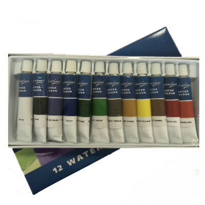 Pack Of Impressions Watercolour Paints 12 X Assorted Colours Tubes Arts Crafts