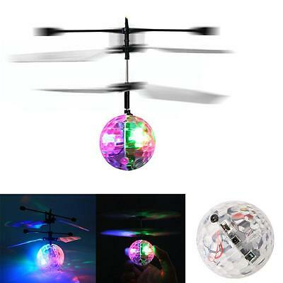 Flash Flying Ball Infrared Induction Colorful LJS Disco RC Helicopter Toy New AE