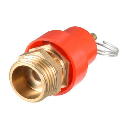 Air Compressor Fittings Pressure Relief Valve 1/2 PT Thread 0.78Mpa Red